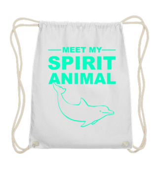 Meet Spirit Animal - dolphin - mint grün