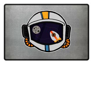 Flat Design Astronaut Space Rocket View