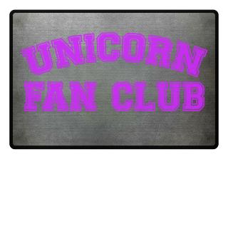 Unicorn Einhorn Fanclub Fussmatte
