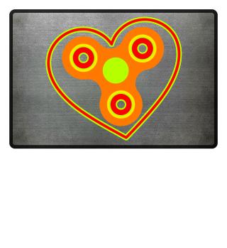 Fidget Spinner - Bunte Herzensliebe
