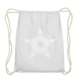 ♥ Vintage Floral Star outline - white