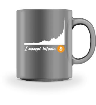 I accept Bitcoin BTC Gift Geschenk