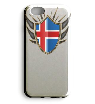 Island-Iceland Wappen Flagge 014