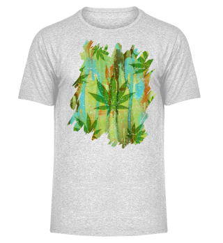 ★ HEMP Leaves brush painting