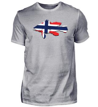 Angel Tshirt Norwegen Angler Geschenk