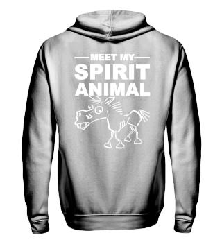 Meet Spirit Animal - mad horse - white