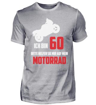 60. Geburtstag T-Shirt Biker Motorrad