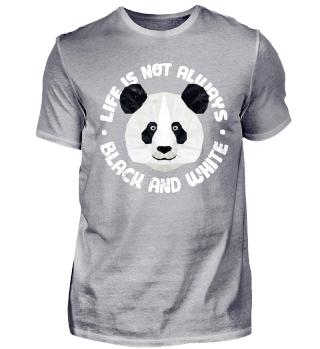 Cooler Panda Bär Spruch Black White