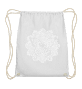 ♥ Vintage Mandala I Butterfly I weiss