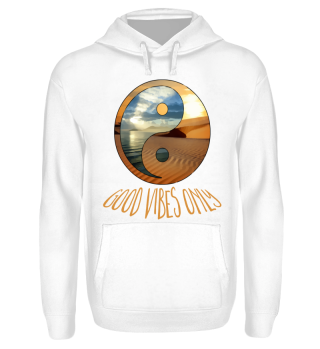 yin yang - good vibes only - beige