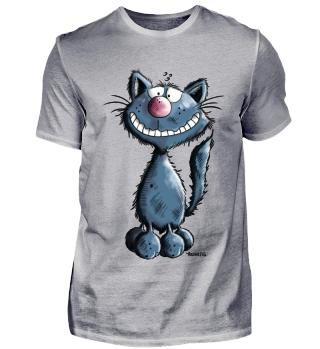 Grinse Katze - Katzen - Geschenk - Comic