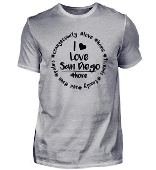 I Love San Diego - white, Kalifornien, USA, Amerika, Amerikanisch, Orange, County, trump T-Shirt Shirt