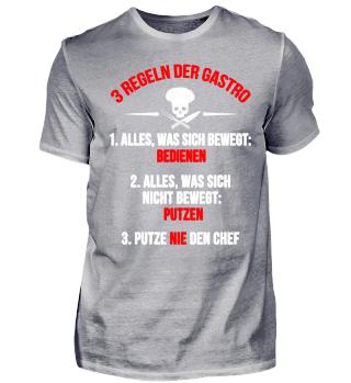Koch-Shirt | 3 REGELN DER GASTRO