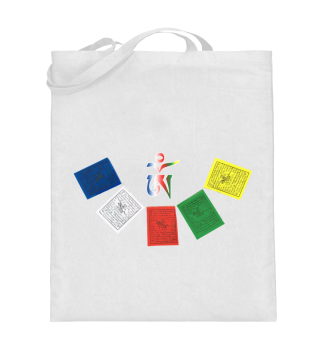 ♥ Tibetan OM Prayer Flags Tasche