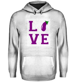 I love eggplants vegetables - gift
