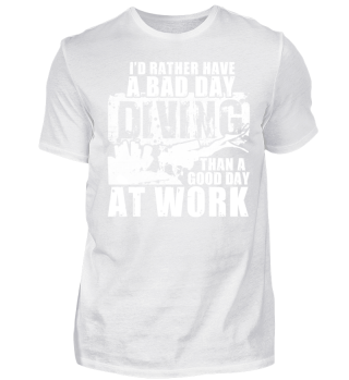 Shirt -Bad day diving work | Geschenk