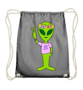 Peace Alien - Flower Power OM