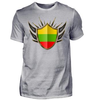 Litauen-Lithuania Wappen Flagge 014