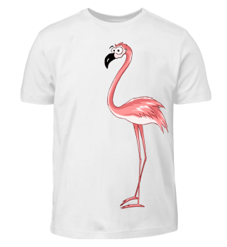 Flamingo Comic Style Cartoon