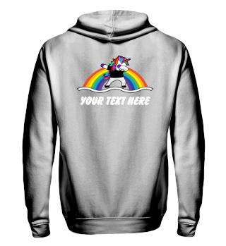♥ Dabbing Rainbow Unicorn - Your Text 5
