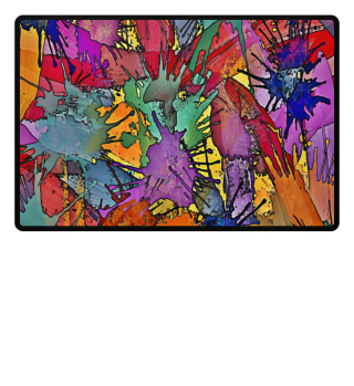 ♥ Multicolored Splashes Painting I