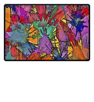 ♥ Multicolored Splashes Painting I