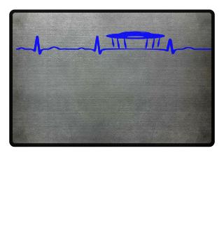 GIFT- ECG HEARTLINE UFO ALIEN BLUE
