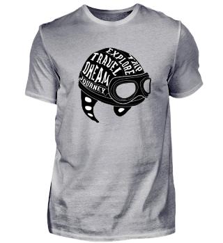 T-Shirt Motorrad Liebe schwarz