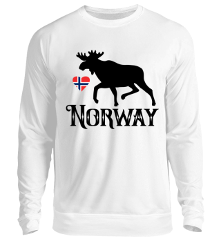 Elch Norway Norwegen Herz Sweatshirt