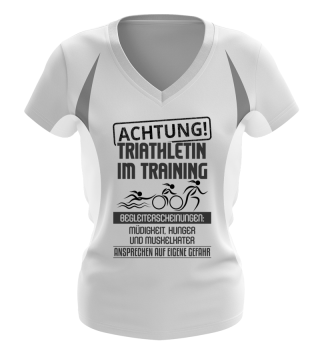 Achtung Triathletin! Damen Funktionsshirt