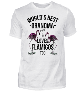 World's Best Grandma & Loves Flamingos
