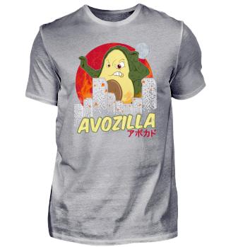 Funny Avocado Shirt Avozilla Kaiju Gift