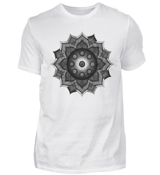 Handpan - Hang Drum Mandala - black grey