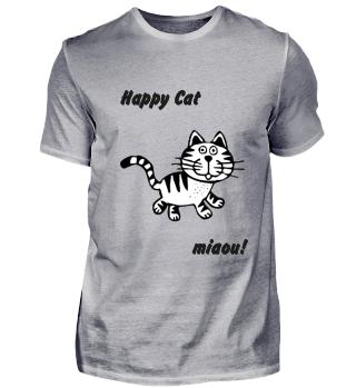 katze, happy cat, tier, geschenk