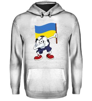 Ukraine Dabbing Soccer Ball