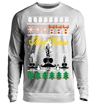 Ananas Pinguin Ugly Christmas Sweater