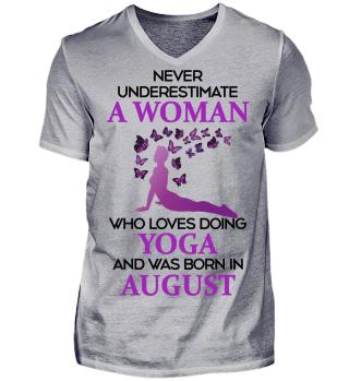 August Woman loving Yoga