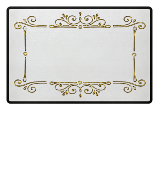 Vintage Ornaments Frame - gold 2