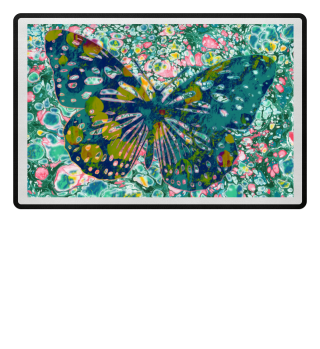 Marble Butterfly Multicolored