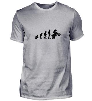 Evolution Mensch Motorradfahrer