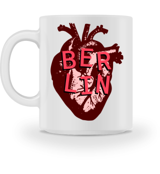 Berlin Love Heart - Ceramic Mug