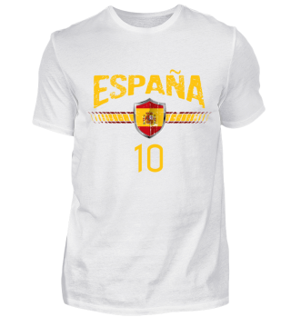 SPANIEN FAN-SHIRT Nationalfarben Fußball