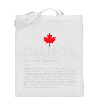 Kanada Baumwolltasche