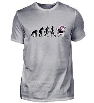 Evolution Of Humans - Dabbing Unicorn 3