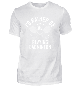 Badminton Player Playing College High School Team Clubshirt Cool Funny Comic Image Gift