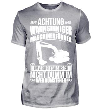 Bagger Maschinenführer Arbeit Beruf Job