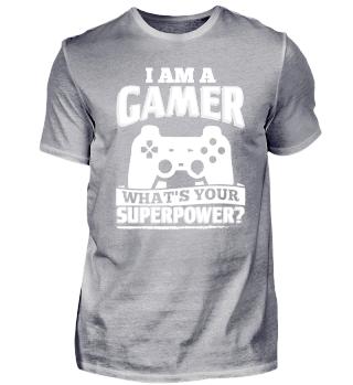 Funny Gamer Gaming Shirt I Am A