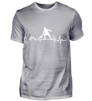 Heartbeat Tischtennis- T-Shirt