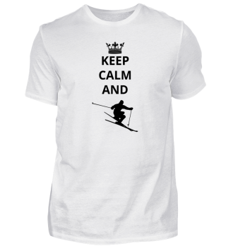 geschenk keep calm and skiing ski
