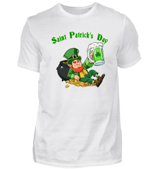 St Patricks Day pot of gold green beer